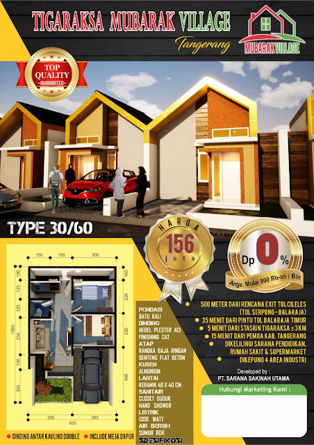 Rumah di Tangerang Dekat Dtasiun KRL Cicilan Rp 900 Ribuan ?