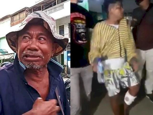 Pelaku yang Jambret Uang Kakek Ini Telah Ditangkap, Kena Dor Polisi di Kaki Hingga Pincang
