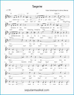 chord tangerine 1 lagu jazz standar