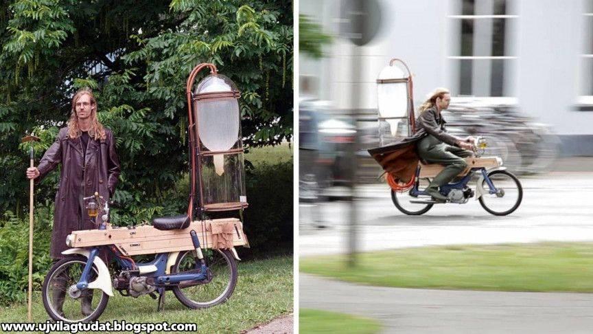 Egy holland mérnökhallgató olyan motorkerékpárt talált fel, ami mocsárgázzal működik