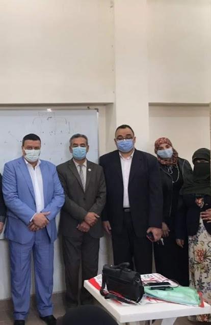 تدشين برنامج لمحو الأمية في منطقة كفر العلو من جامعة حلوان