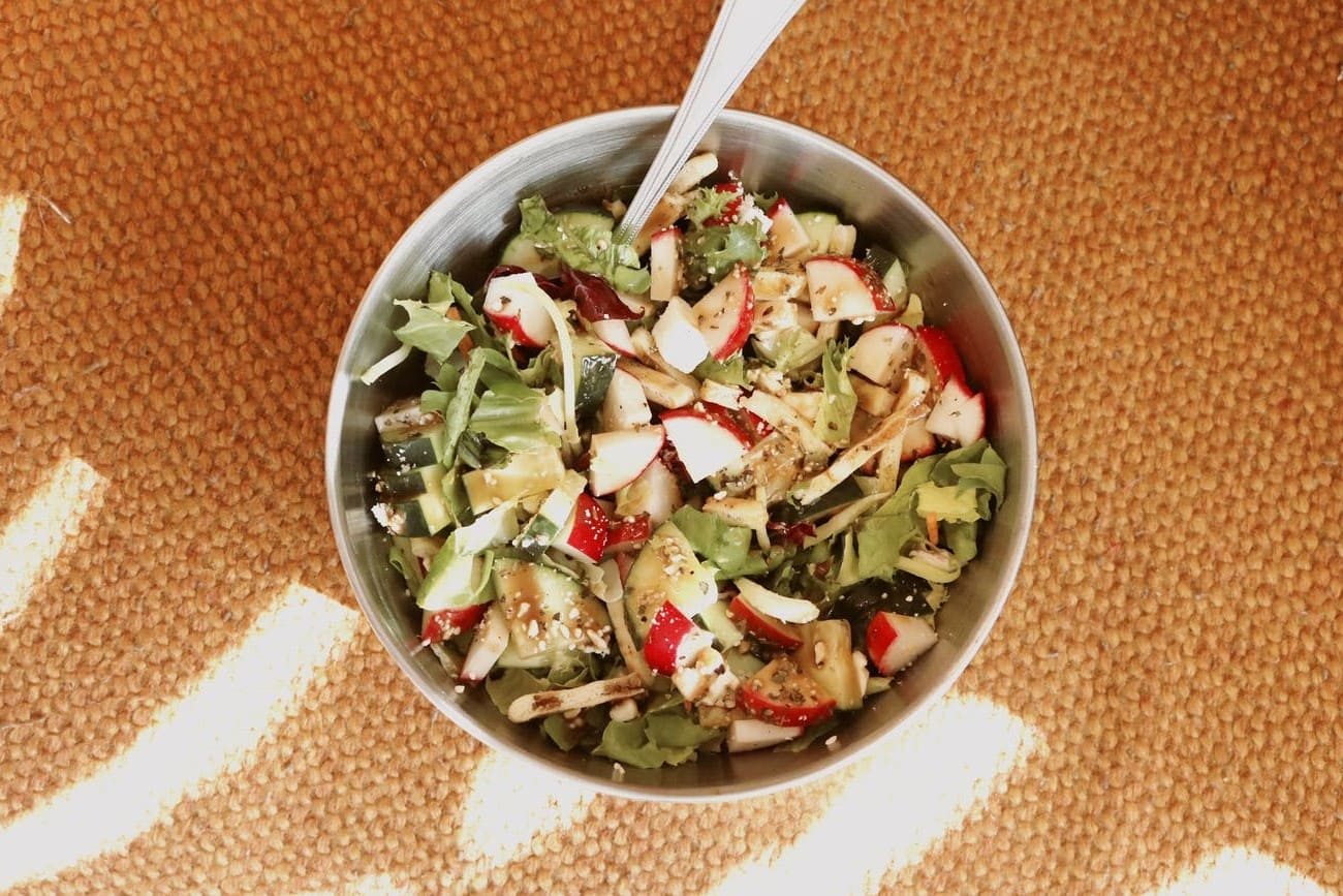 Green asparagus salad for diet
