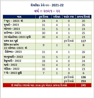 2021-22 teachers useful education calendar