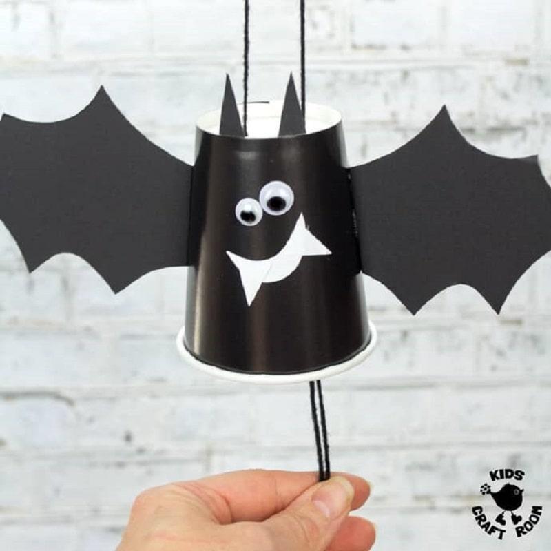 flying bat cup craft