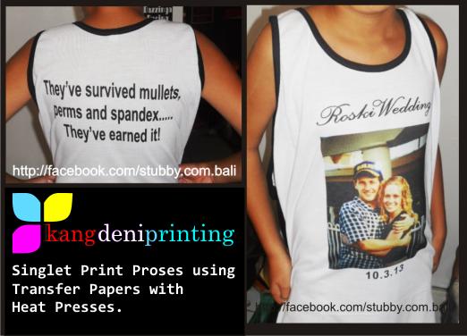 Singlet Print Proses Heat Press