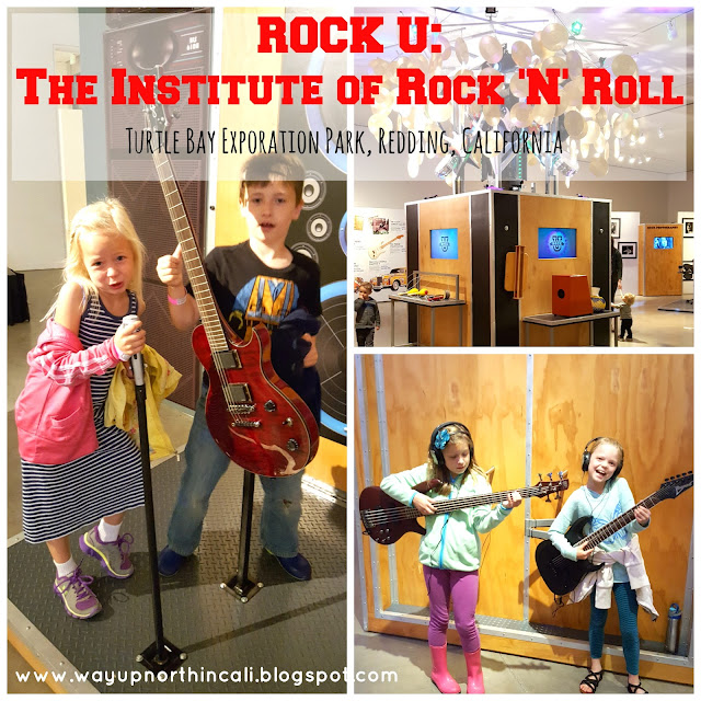 Rock U: The Institute of Rock 'N' Roll exhibit at Turtle Bay Exploration Par, Redding, CA   www.waupnorthincali.blogspot.com