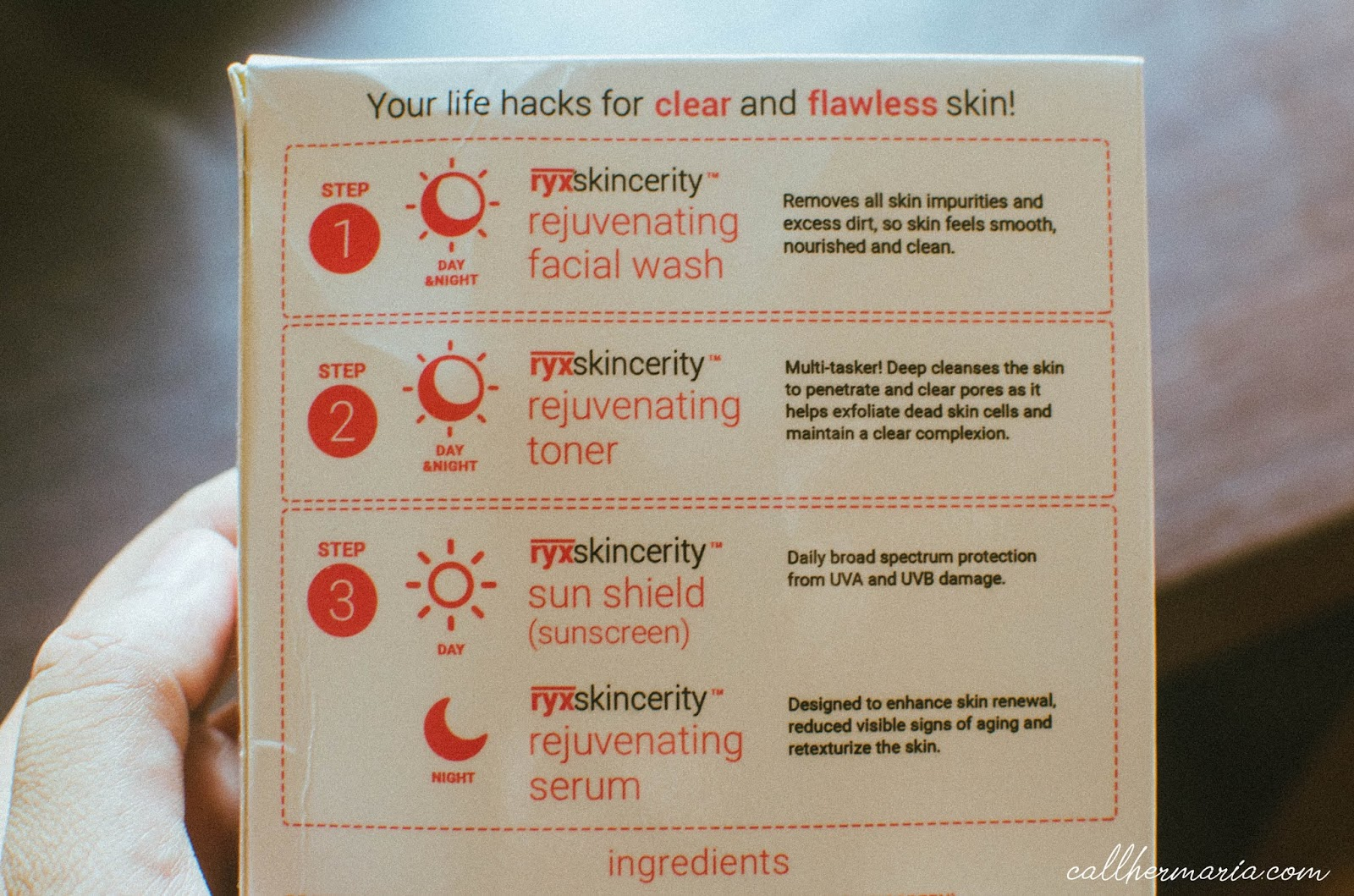 How to use Ryx Skincerity