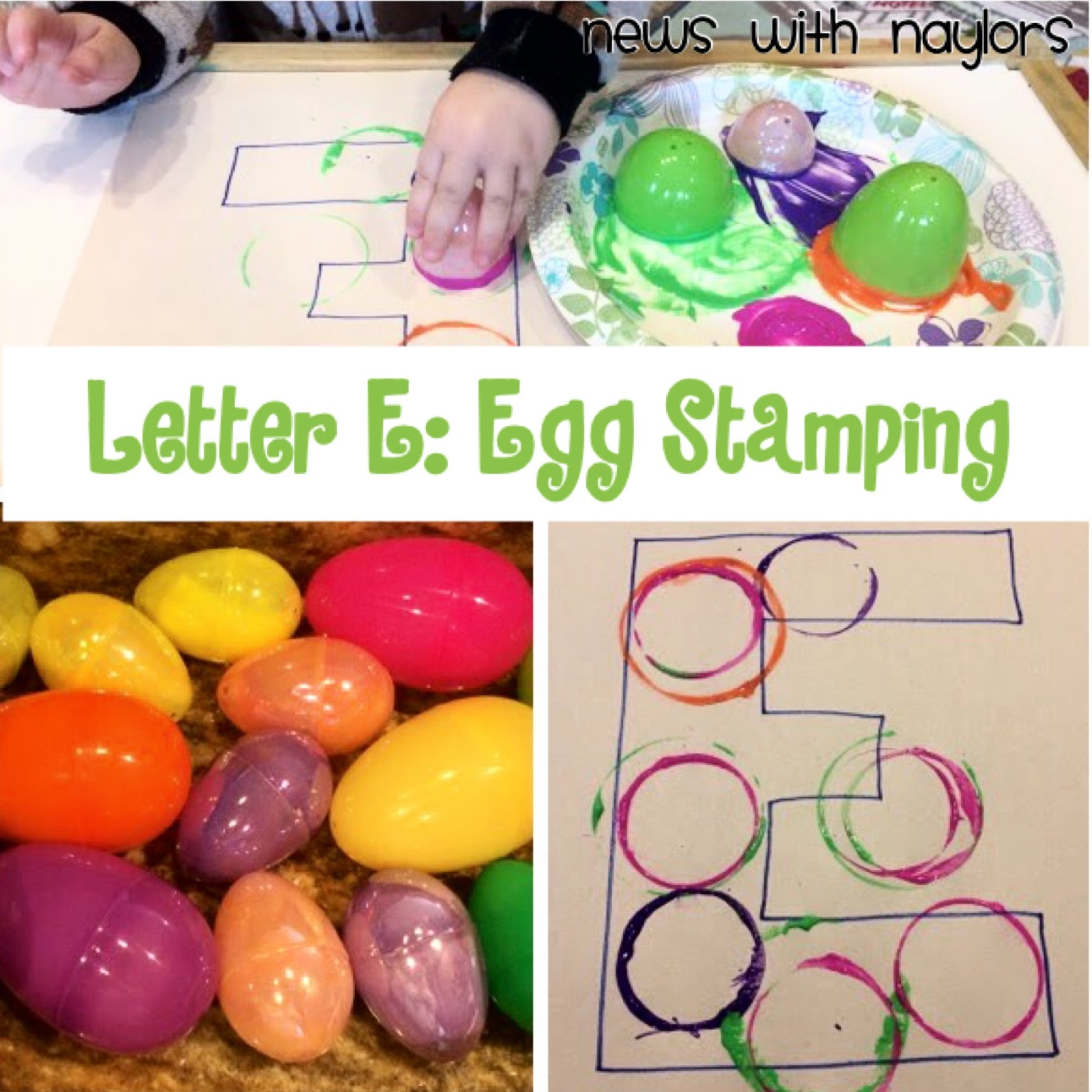 News With Naylors Letter E Egg Stamping Oviparous Egg Hunt Egg