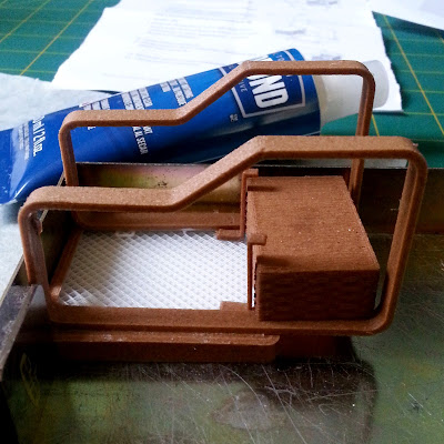 One-twelfth scale miniature Alvar Aalto trolley 900 kit, partly constructed.