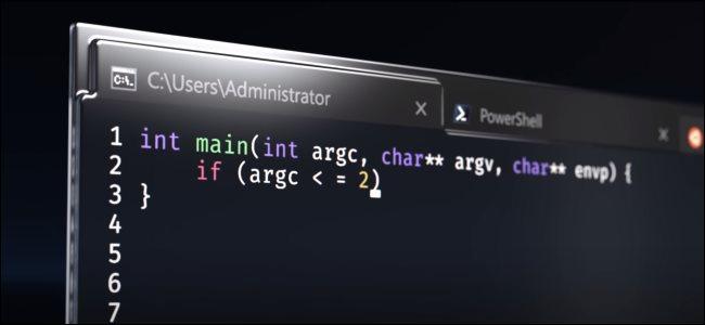 الطرفية Windows كما هو موضح في فيديو إعلان Microsoft.