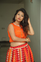 Shubhangi Bant in Orange Lehenga Choli Stunning Beauty ~  Exclusive Celebrities Galleries 057.JPG