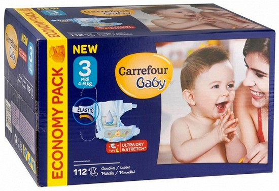 Pañales Carrefour Baby Talla 3