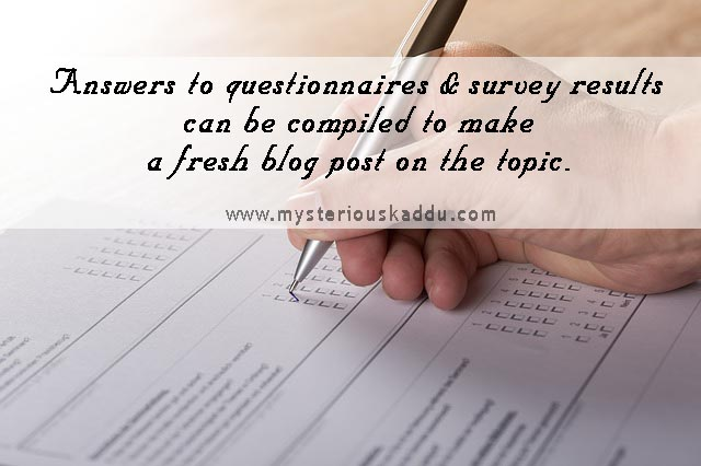 Using Surveys, Polls and Questionnaires To Find New Blog Post Ideas