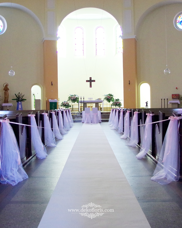Dekoracja kościoła na ślub - Kolonowskie