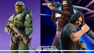 Crossover de universos! Master Chief, Daryl Dixon e Michonne são confirmados em Fortnite