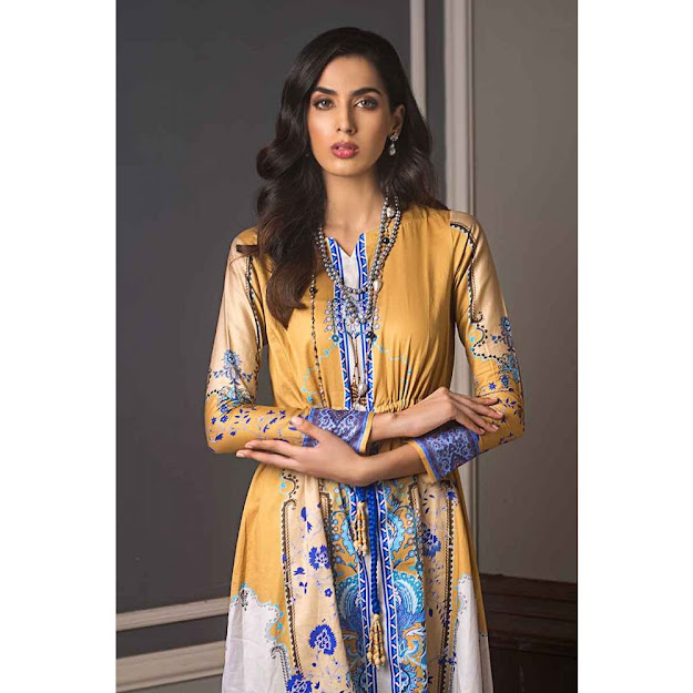 Gul Ahmed yellow color suit luxury suit collection