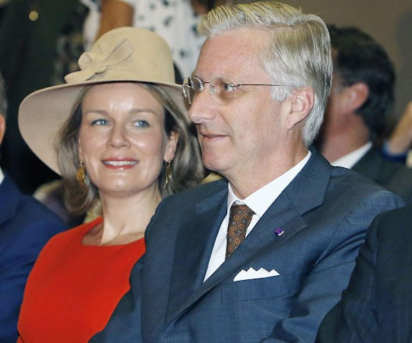 King Philippe and Queen Mathilde of Belgium enjoy traditional noh masked dance-drama in Osaka