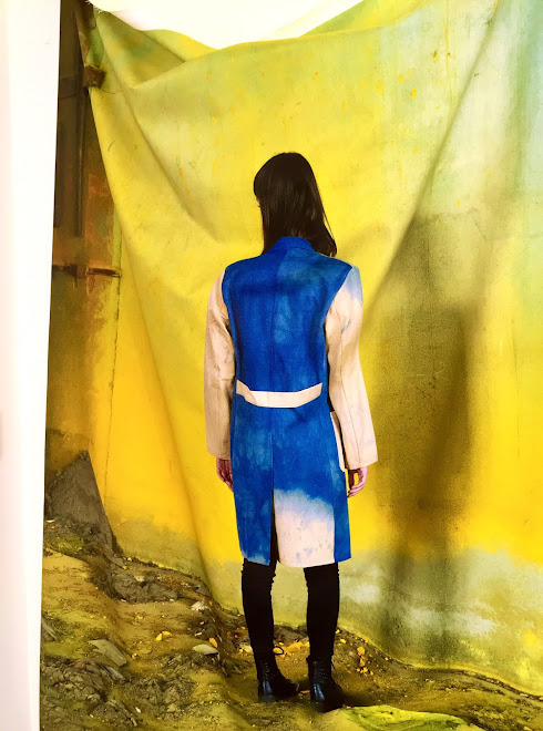 exhibition at Kings College: Post Work Wear (Meri on Denim in Chromos No.2)
