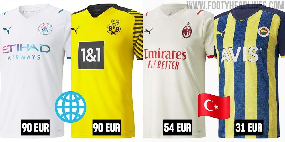 Puma verkauft 21-22 Trikots viel billiger in der Türkei ...