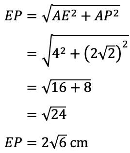 Diketahui kubus ABCD.EFGH dengan panjang rusuk 4 cm. Jika ...