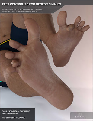 Easy Feet for Genesis 3 Male(s)