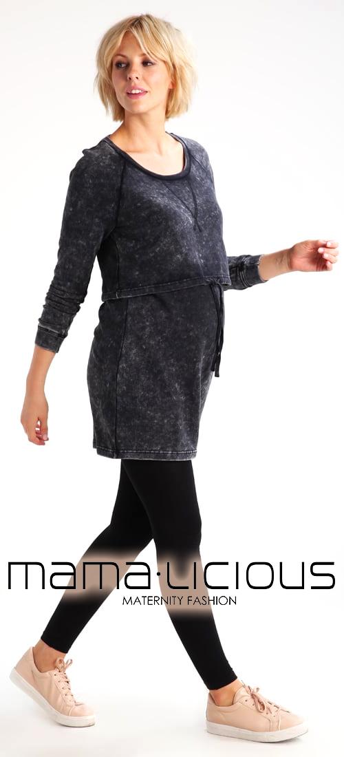 Sweatshirt femme gris chiné grossesse MAMALICIOUS