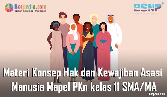Materi Konsep Hak dan Kewajiban Asasi Manusia Mapel PKn kelas 11 SMA/MA