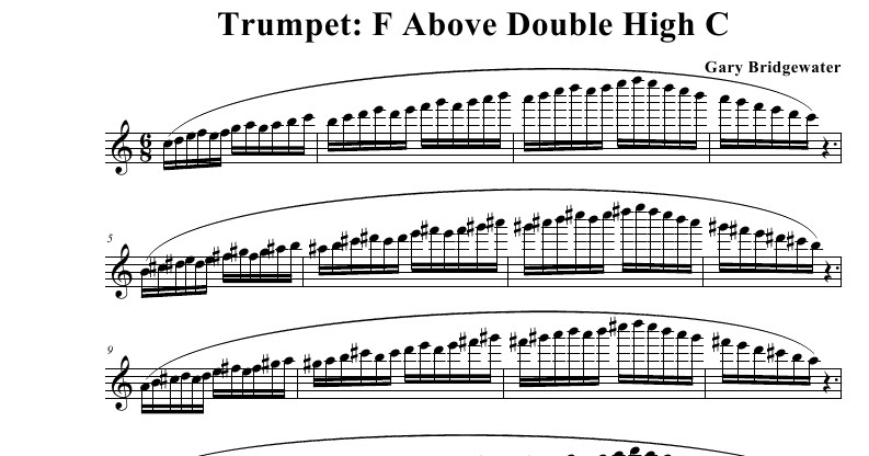 Trumpet: Trumpet: F Above Double High C