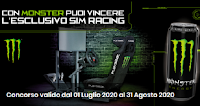 Logo Con Monster Energy puoi vincere il Racing Simulator ( valore oltre 2100 euro)