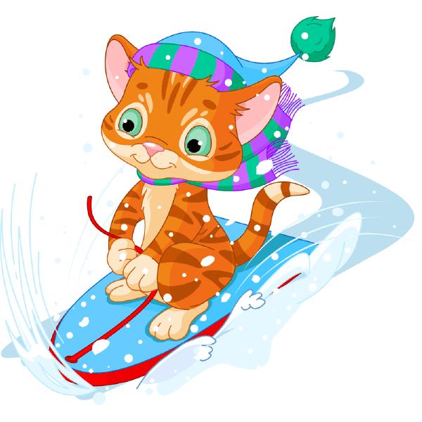 Snowboard Kitty