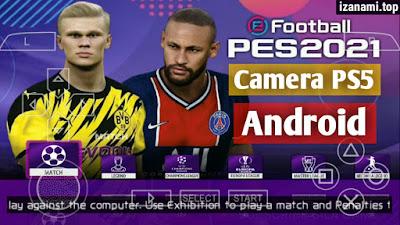 (Nouveau) PES 2021 PPSSPP Camera PS5 Android Offline || libre