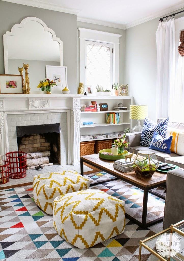 Decorating Cents: Floor Poufs