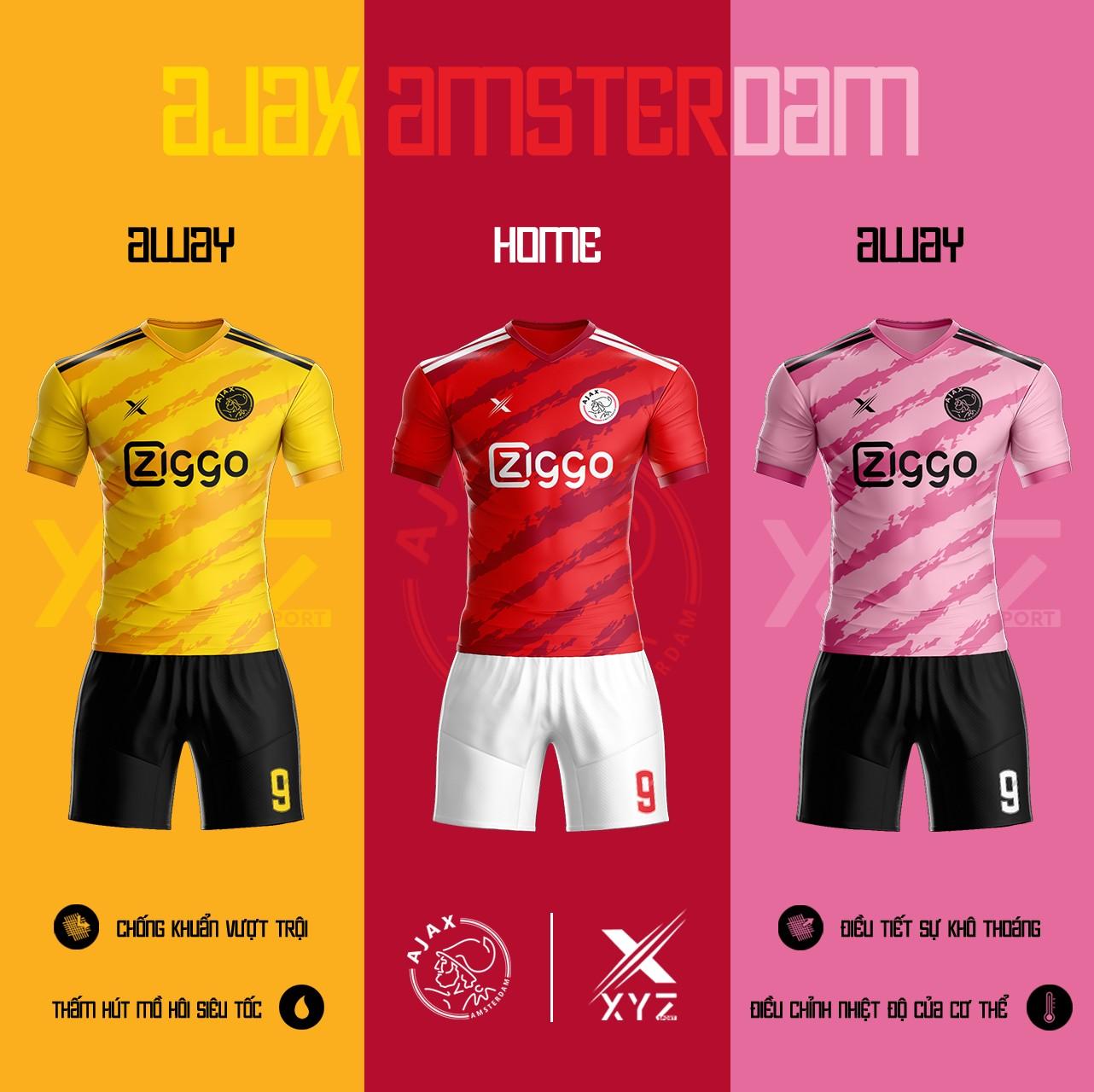 Áo Đấu Bóng Đá Ajax Amsterdam Tự Thiết Kế Đẹp Và Độc - Mã AA01