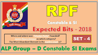 RPF SI Previous Year Bits Constable ALP Group D Expected Bits Set – 4