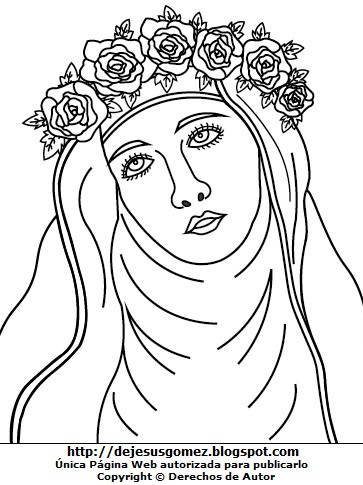 Imagen de Isabel Flores de Oliva para colorear, pintar o imprimir. Dibujo de Isabel Flores de Oliva hecho por Jesus Gómez