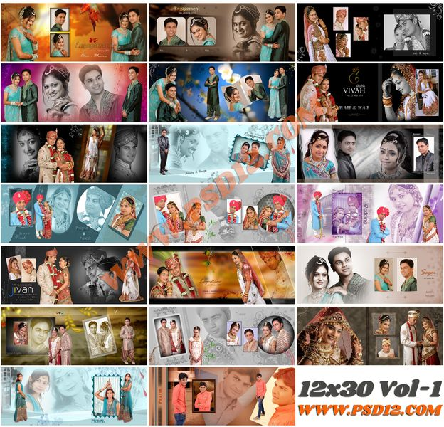 12x30 Photo Album PSD Collection Download