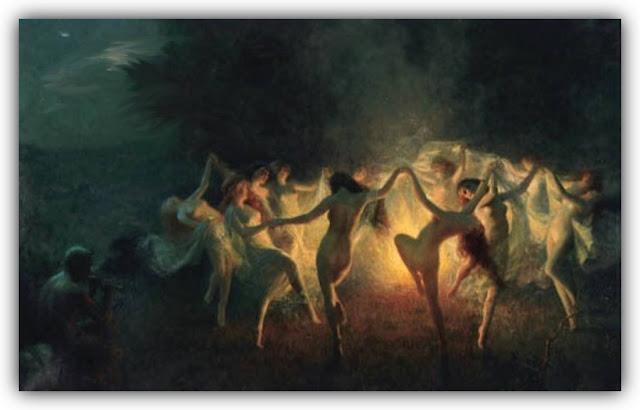 Pagan Ritual of Dancing at Night