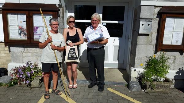Devon Wildlife Trust. Collecting Devon Bat Survey materials at Chudleigh Town Hall