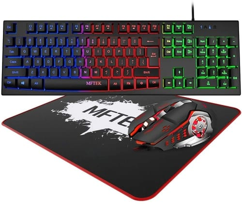 Review MFTEK Rainbow Gaming Keyboard and Mouse Combo