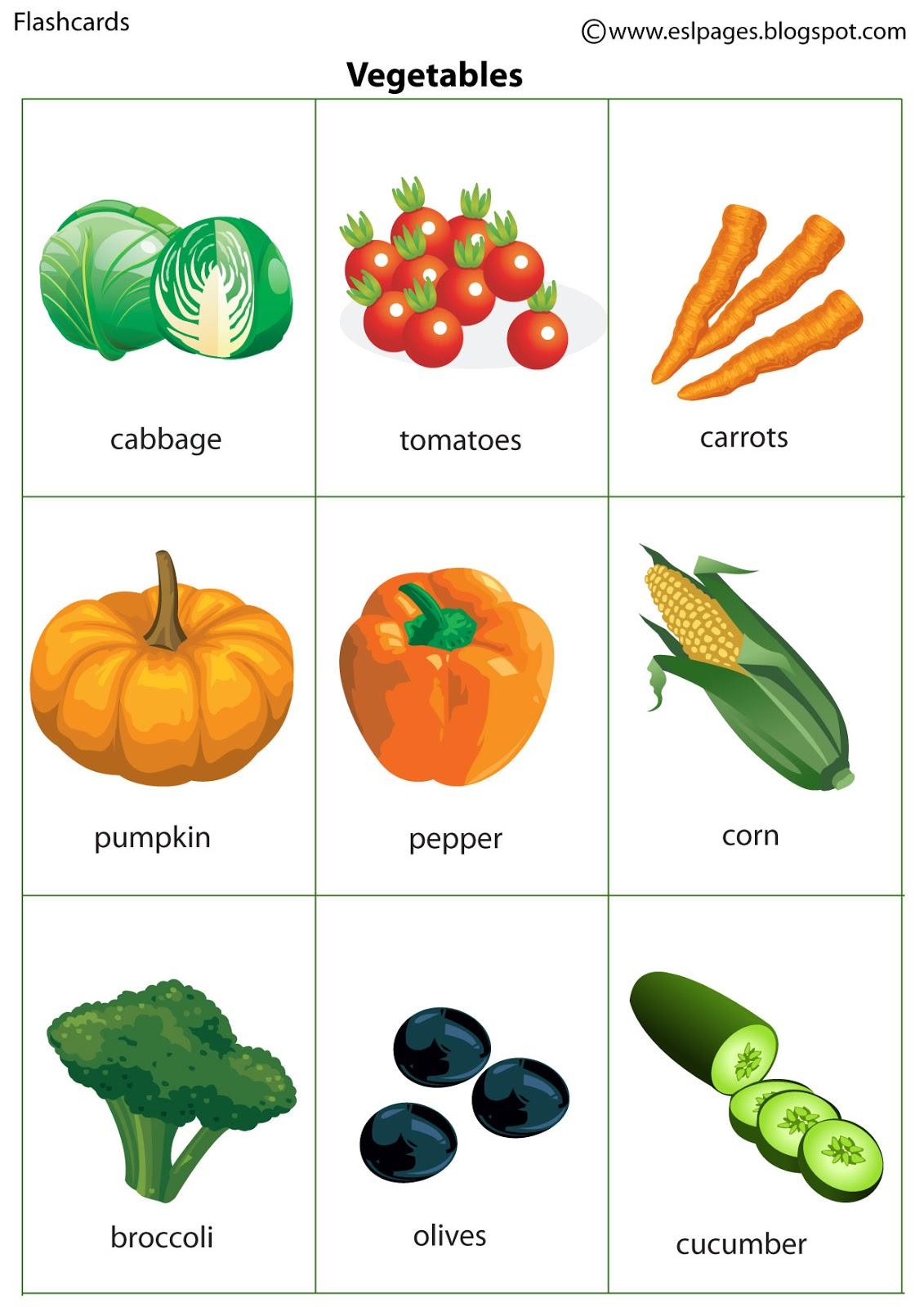 Esl Pages: Vegetables