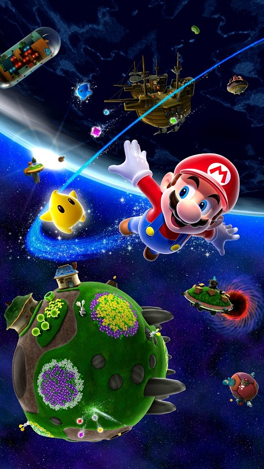 Android Best Wallpapers: Super Mario Galaxy Android Best Wallpaper