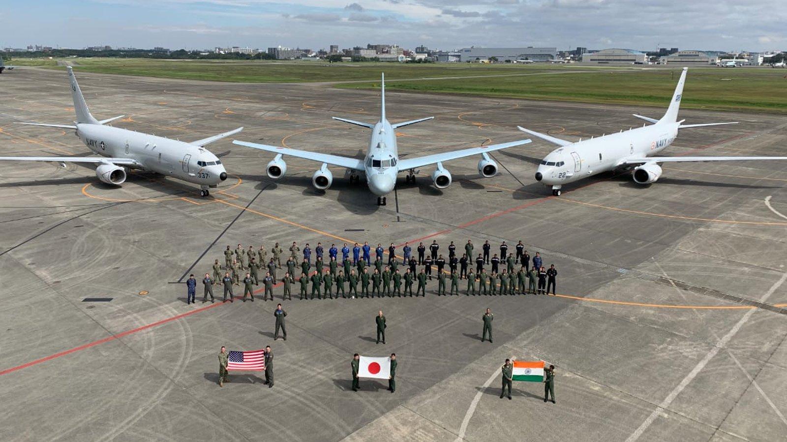 Malabar 2019 - India USA Japan Naval Exercise - P-8 Maritime Aircraft - 01