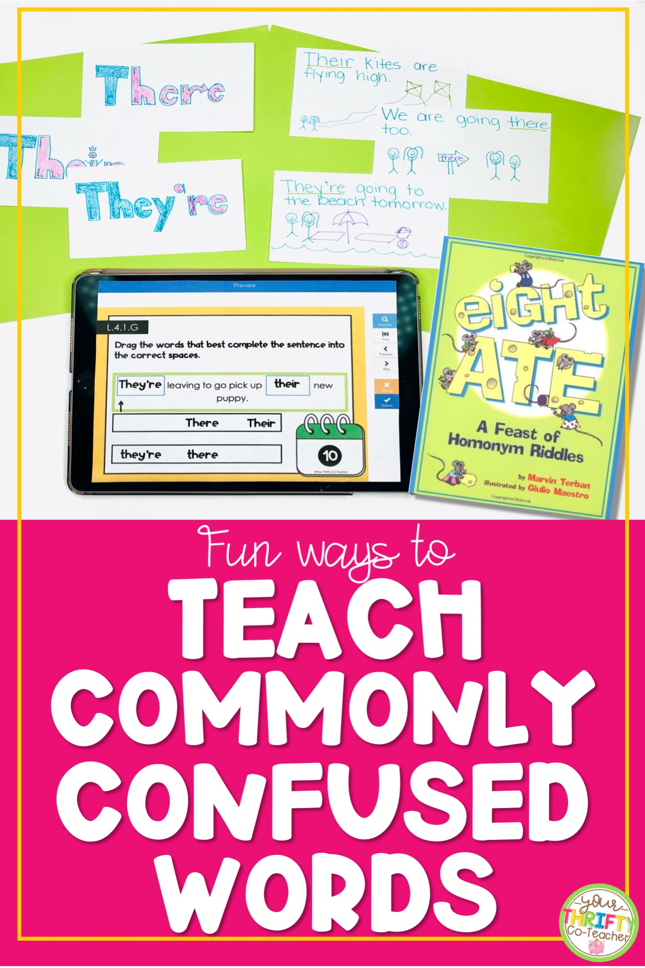 Fun \u0026 Easy to Prep Commonly Confused Words Activities - Your Thrifty  Co-Teacher [ 1949 x 1299 Pixel ]