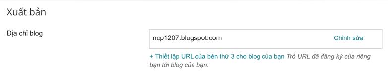 Gán tên miền riêng lên blogspot