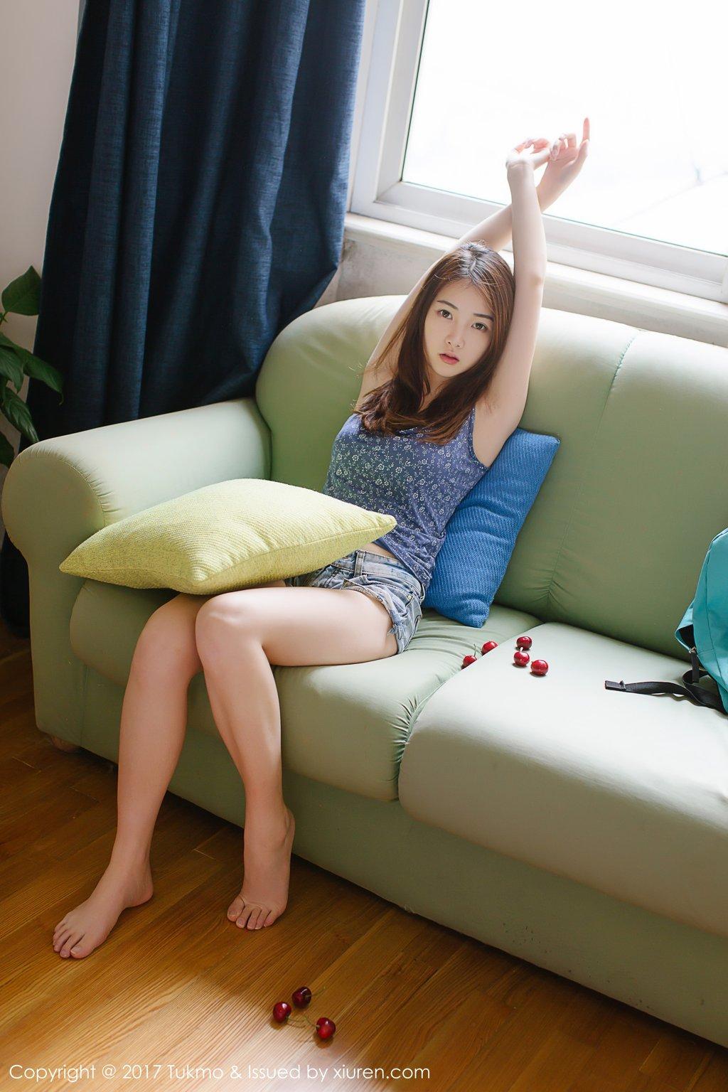 Image-Tukmo-Vol-096-Model-Mian-Mian-绵绵-Cute-Cherry-Girl-TruePic.net- Picture-8