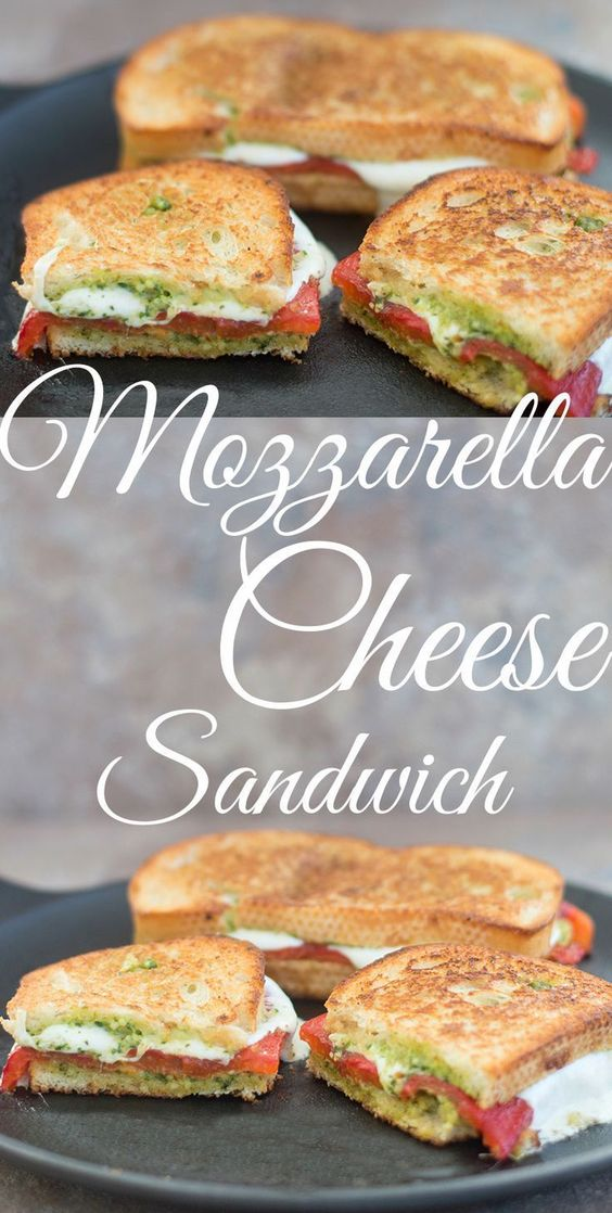 MOZZARELLA CHEESE SANDWICH WITH PESTO #recipes #lunchrecipes #food #foodporn #healthy #yummy #instafood #foodie #delicious #dinner #breakfast #dessert #lunch #vegan #cake #eatclean #homemade #diet #healthyfood #cleaneating #foodstagram