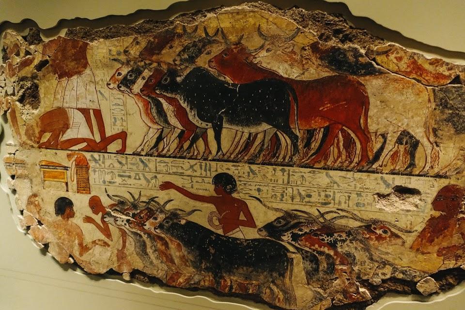 ネブアメンの墓の壁画 「家畜検査」