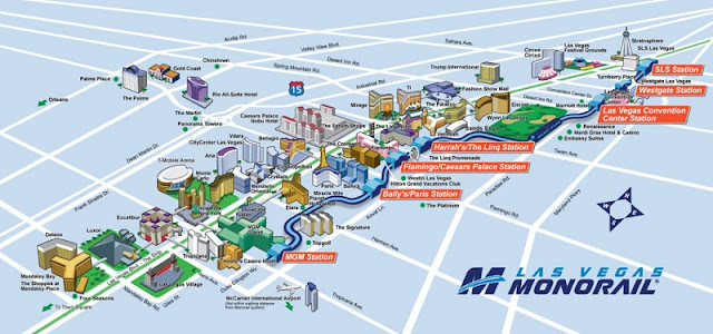 Como é o trem Monorail em Las Vegas