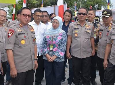 Kapolda Jambi Resmikan Stasiun Pengisian Bahanbakar Polri(SPBP) Pall Sepuluh Kota Jambi