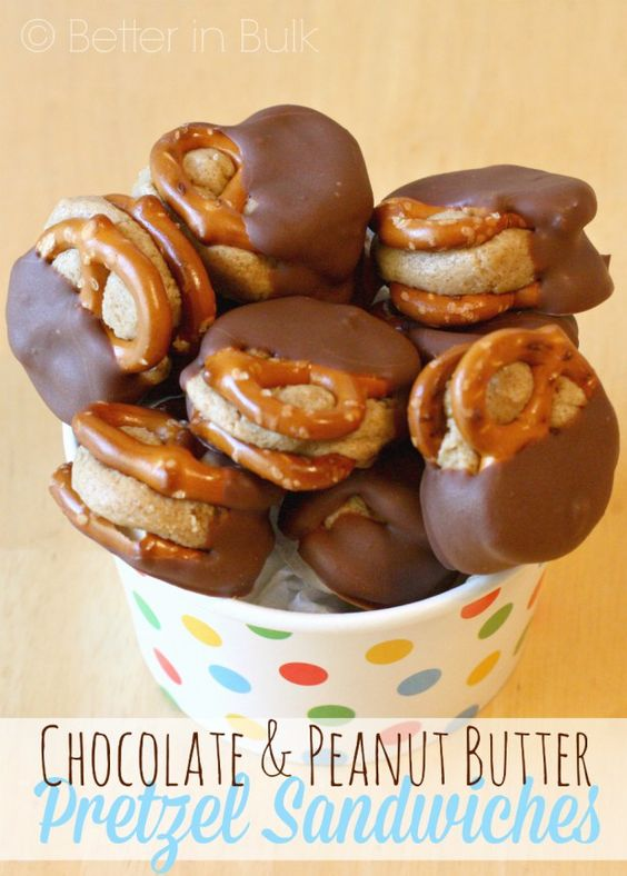 Chocolate  Peanut Butter Pretzel Sandwiches